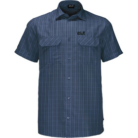 Jack Wolfskin Thompson t-shirt Heren, ocean wave checks